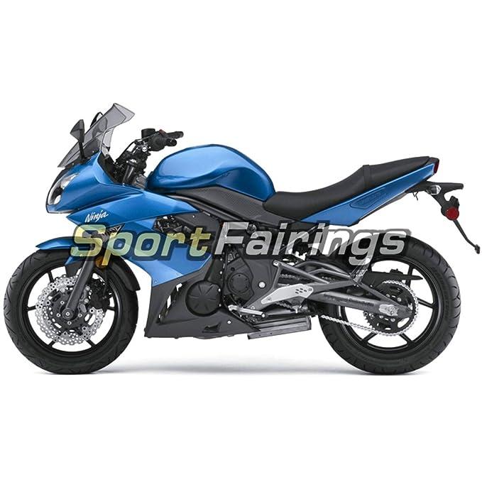 Sportfairings Plastic ABS Fairing kits For Kawasaki Ninja 650R ER-6F Year 2009-2011 09 10 11 Gloss Blue Motorbike Bodywork