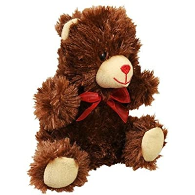 Greenbrier Chocolate-Scented Teddy Bear with Red Bow - 7 inches Tall (Cocoa Cutie): Toys & Games