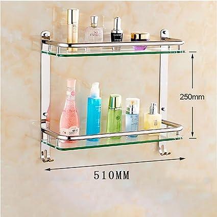 Mensole bagno Bagno in vetro temperato in acciaio inox Portablocco ...