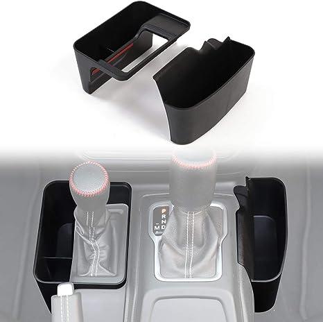 MAIKER Gear Shift Storage Box Center Console Storage Auto Transmission Tray Side Pocket Organizer for 2018 2019 Jeep Wrangler JL 4 Door