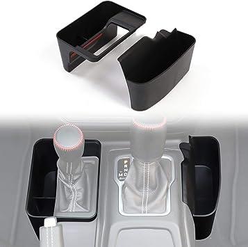 Shifter Storage Box Center Console Storage for 2018-2020 Jeep Wrangler JL JLU /& 2020 Gladiator JT Black,Automatic Transmission Side Organizer Tray Interior Accessories