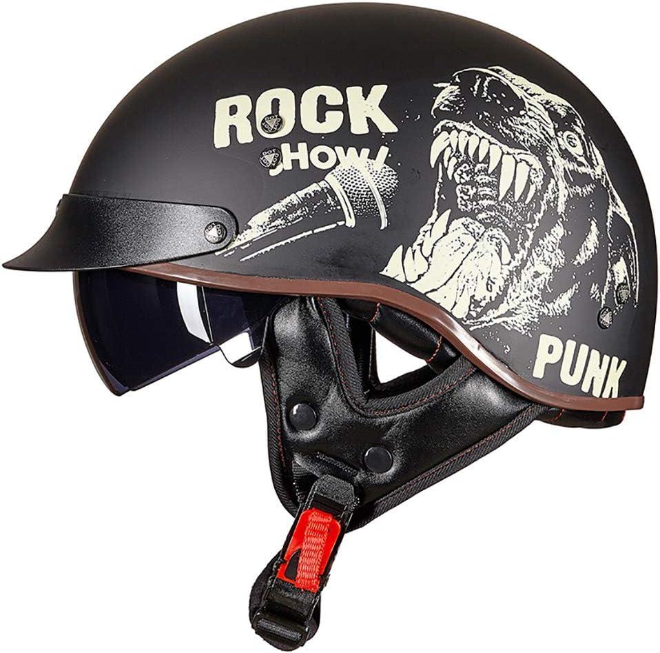 Gaozh Motorradhelm Vintage Halbschalenhelm Ece Zertifizierung Mit Visie Jethelm Für Damen Und Herren Erwachsene Oldtimer Erwachsener Retro Mopedhelm Vintage Style Harley Helm Küche Haushalt