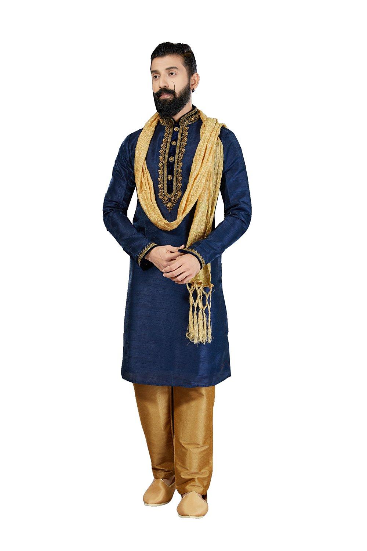 Kurta Pajama For Men Indian Designer Wedding Partywear Royal Outfit Traditional Ethnic India Dress