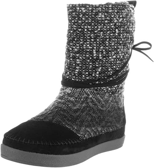 TOMS Womens Nepal Boot Black Suede