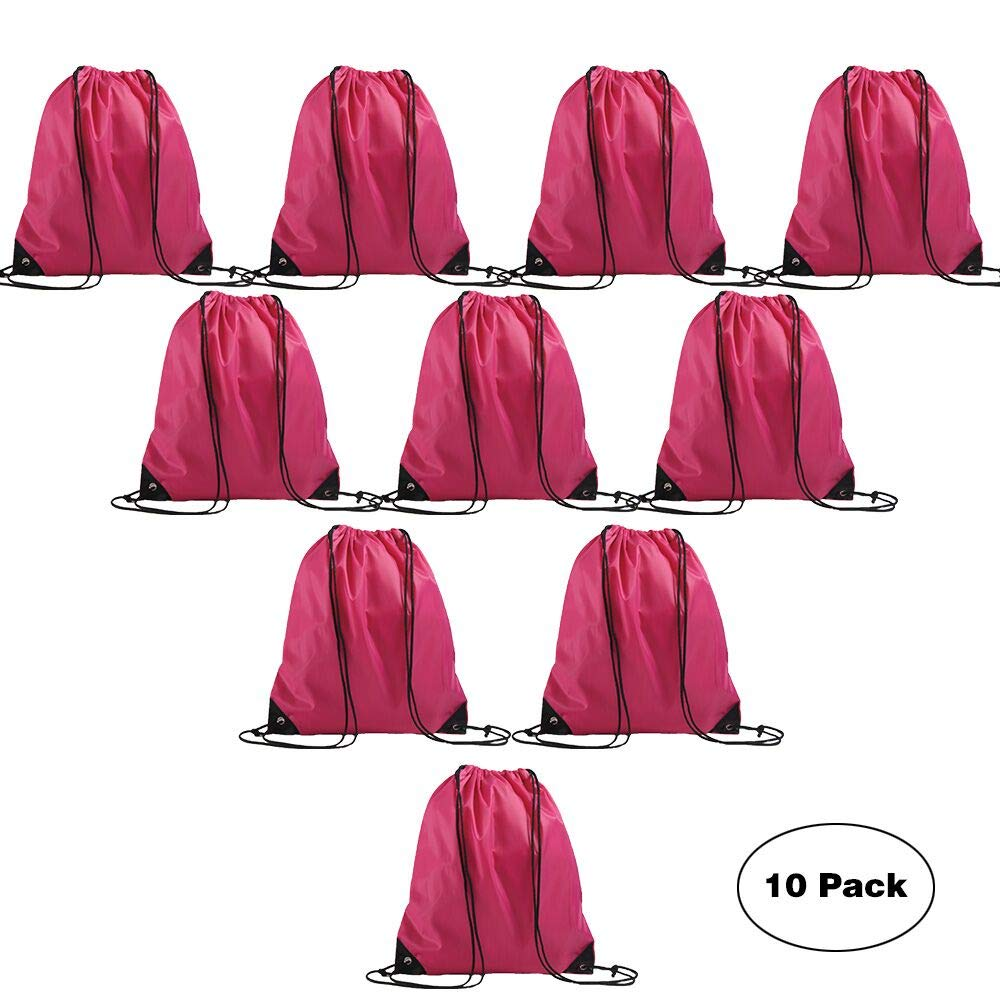 LIHI Bag Basic Drawstring Backpack Goodie Bags, Promotional Gym Sack For Birthday Party Favor Giveaways