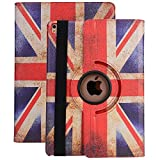 Case for iPad 2/3/4,TechCode New 360 Degrees Rotating Stand Smart Case Cover Polka Dot Pattern Case for iPad 2,iPad 3,iPad 4 9.7 inch