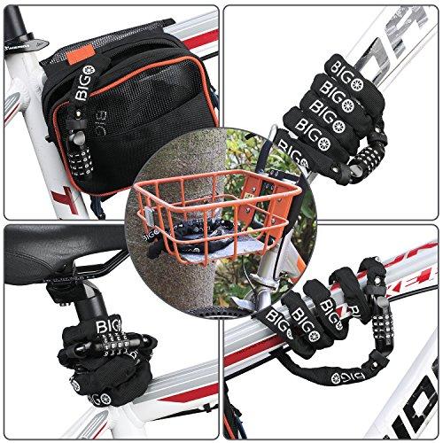 BIGO Bicycle Chain Lock Resettable Combination Bike lock Open with Password,120cm/47.24inch by BIGO (Image #7)
