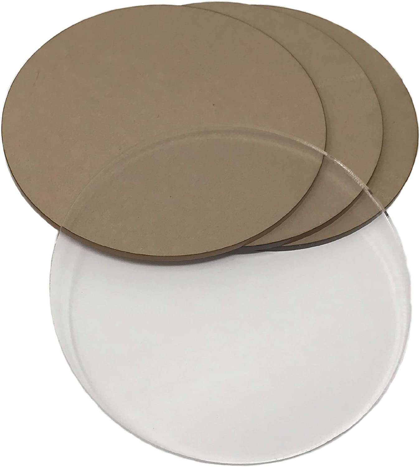 "All Sizes 1//4/"" Plastic Circle Disc Round Acrylic Sheet Clear Plexiglass"