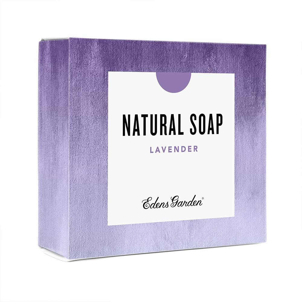 Edens Garden Lavender Natural Aromatherapy Cold Processed Bar Soap (Made With Essential Oils, Vegan, For Face & Body), 4.4 oz Bar