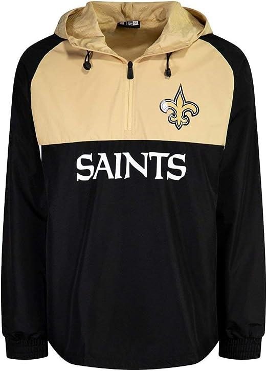 New Era Orleans Saints NFL Half Zip Colour Block Windbreaker Black Anorak Jacket: Amazon.es: Ropa y accesorios