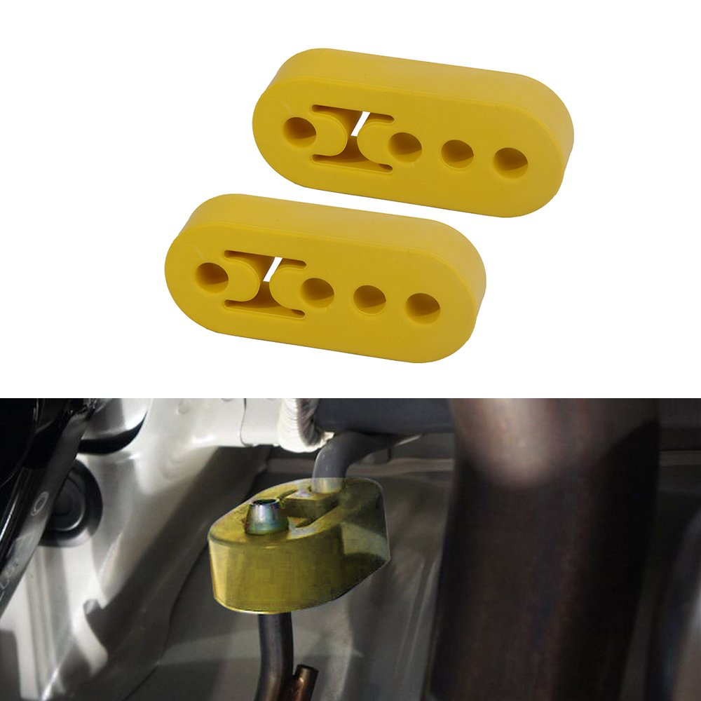 PME 2PCS 4 Holes Heave Duty Upgraded Exhaust Hanger Support Bracket Rubber Mounts