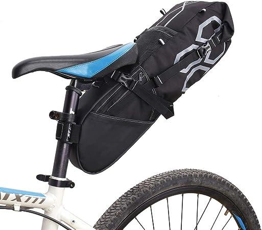 QQLK Alforja - Bolsa De Bicicleta Bolsa para Bicicleta De MontañA para Exterior, Impermeable, Gran Capacidad 12L: Amazon.es: Hogar