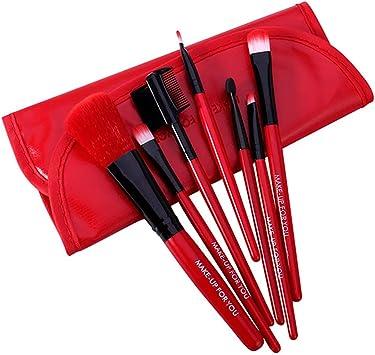 Xiton Kit de Brochas Maquillaje 7 Piezas Cerdas de Fibra Sintética ...
