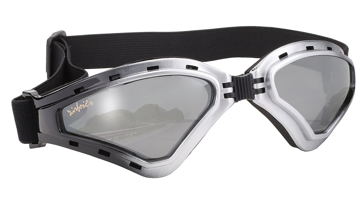 Pacific Coast Airfoil Goggles (Chrome Frame/Silver Mirror Lens) Pacific Coast Sunglasses Inc. 8010