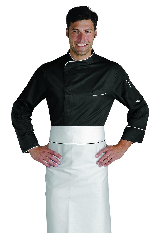 Isacco Giacca cuoco Bilbao Bianco+Italy Manica Lunga 65/% Poliestere 35/% Cotone F.I.C. 3XL Bianco+Italy