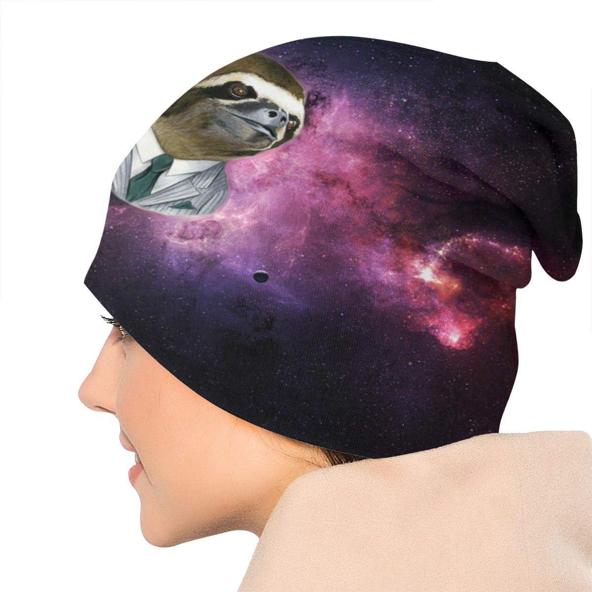 JINGUImao Sloth Space Unisex Warm Hat Knit Hat Skull Cap Beanies Cap