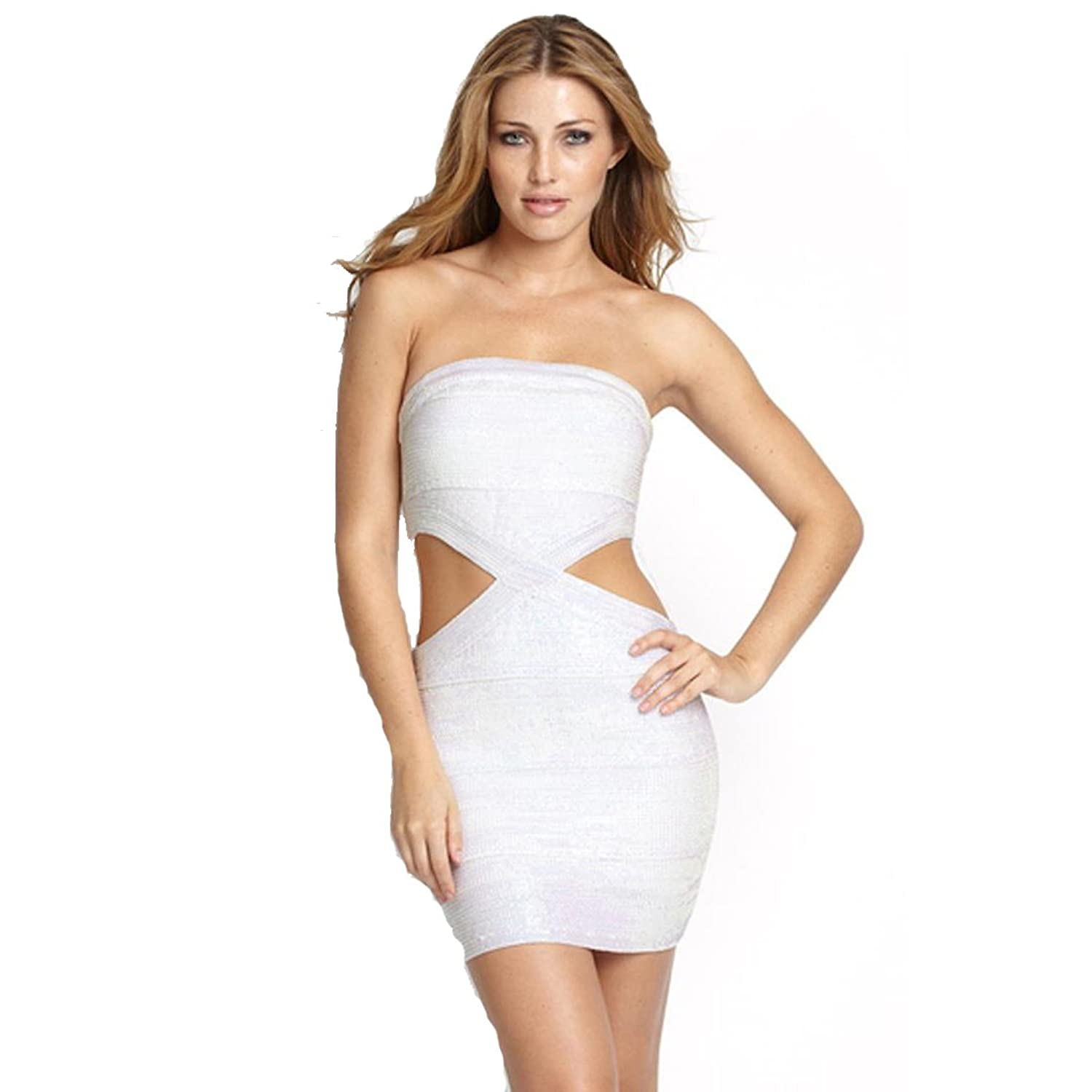 Amazon.com: Sexy Iridescent Bodycon Bandage Dress By Wow Couture: Clothing