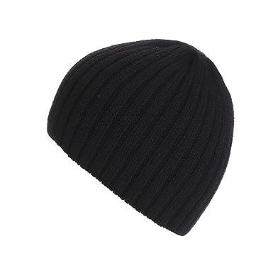 f32637fbe46 Kingko® Unisex Retro Trawler Winter Cap Chunky Knit Beany Beanie Hat Winter  Ski Men Womens Hat (Black)  Amazon.co.uk  Clothing