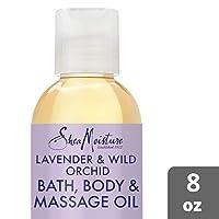 SheaMoisture Bath, Body & Massage Lotion & Oil Moisturizer for Sensitive Skin Lavender...