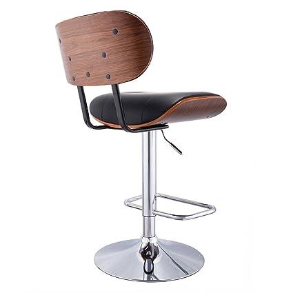 MyEasyShopping Bentwood Bar Stools Vintage Green Stool Three Mid Century  Rattan Seat Modern Swivel Italian Leather