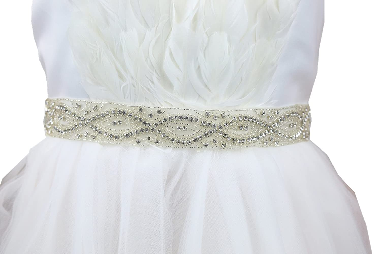 SoarDream Bridal Belt, Crystal Sash Belt, Wedding Dress Sash.