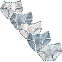 RosaObsta Braguitas Niñas Paquete de 5 Bragas Bikini Ropa Interior Calzón Cintura Media Calzoncillos Chicas Hipster