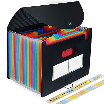 Carpeta Clasificadora, Carpeta A4 Plastico Extensible Archivador, Organizadora Clasificador Carpeta Acordeon para Documentos