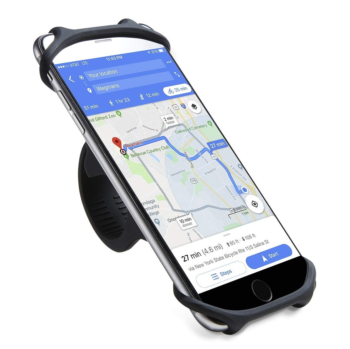 Size Cyclepartner Universal Bike Phone Mount Cellphone Silicone Holder for Bicycle and Motorcycle Handlebars Fits for iPhone XS//X//8//8Plus//7//7Plus//6 Samsung Galaxy S9//S8//S7