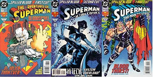 SUPERMAN SPILLED BLOOD parts 1-3 complete xover!!! COMICS BOOK