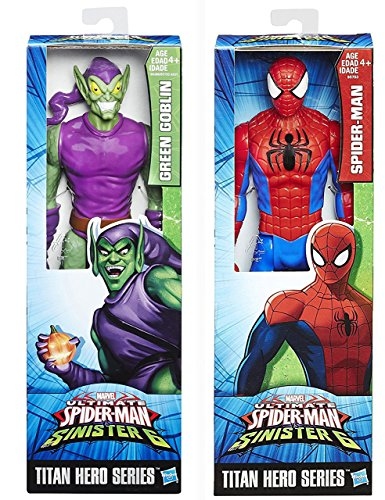 Marvel Titan Hero Series Ultimate Spider-Man Sinister Six VS The Green Goblin Sinister 6 Action Figure Avengers Set Moveable Series