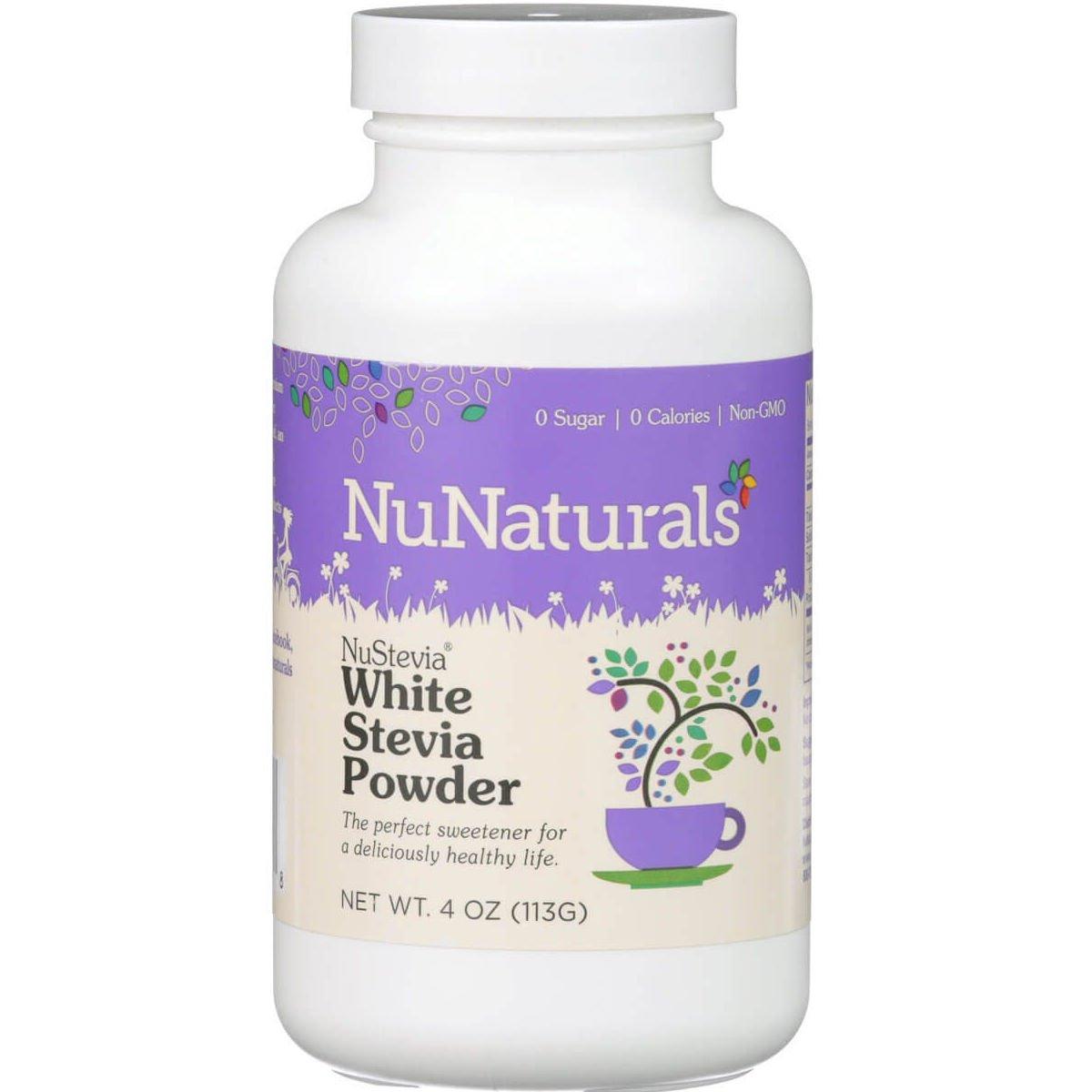 NuNaturals – NuStevia – White Stevia – All-Purpose Sweetener – 4 Ounce