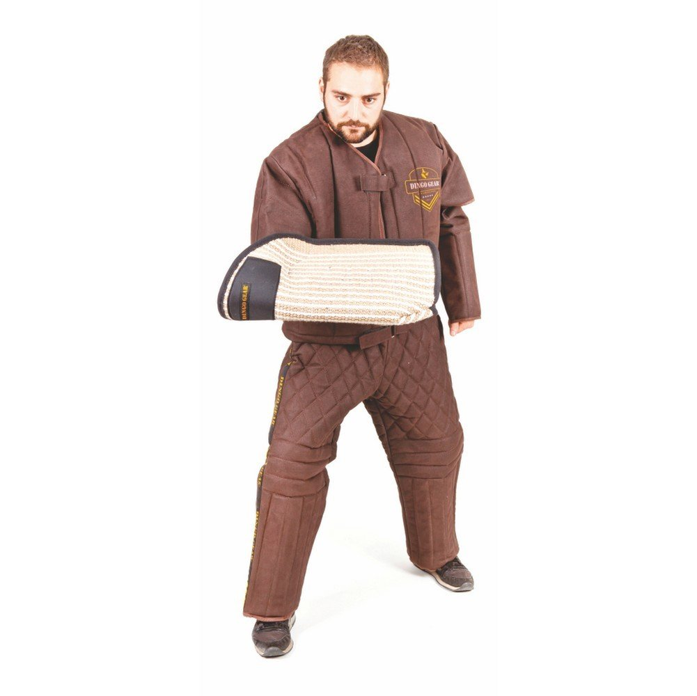XL Dingo Gear Helper Jacket Leatherette Light Predection Handmade for Dog Training Decoys, DG01021