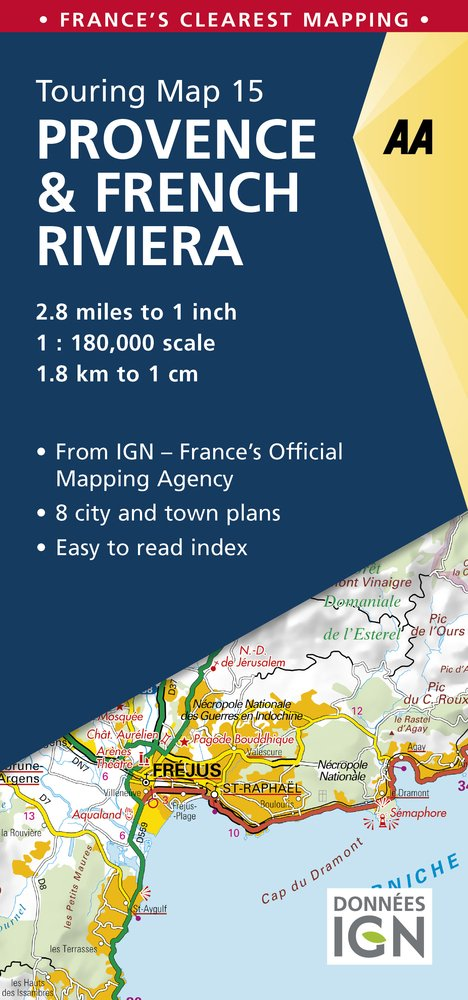 Provence French Riviera Touring Map AA Road Map France AA