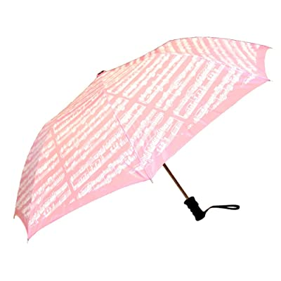 well-wreapped Pink and White Sheet Music Umbrella