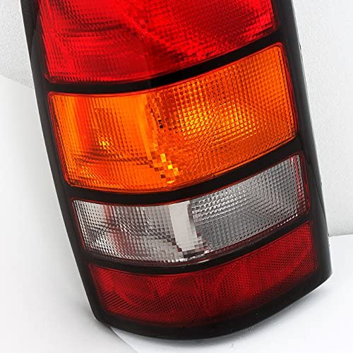 Right For GMC Sierra Pickup Truck Red Clear Rear Tail Lights Brake Lamps Replacement Pair Left