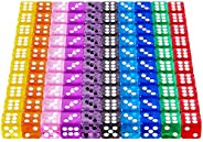 AUSTOR 100 Pieces 6 Sided Game Dice 12mm