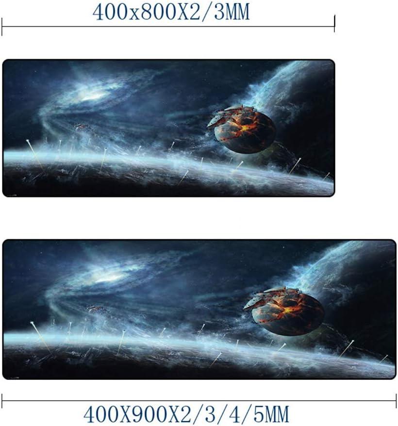 HonGHUAHUI Mooie ruimte gebroken planet creatief klantgebonden DIY, de muismat grote maten PC-placemats drukt, 400 x 900 x 3 mm. 400 x 900 x 2 mm.