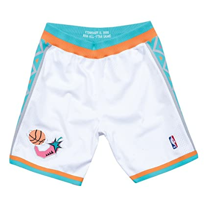 Image Unavailable. Image not available for. Color  Mitchell   Ness 1996 NBA  All Star West Authentic Throwback White Shorts Men s 5fc7cf0cd5