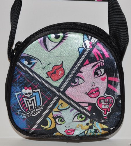 New Fashion MONSTER HIGH GIRLS BAG PUZZLE 100 PIECES IN ZIPPERED PURSE GIFT MATTEL FREAKY - Freaky Sunglasses