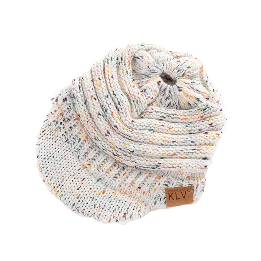 Big-Mountain-Accessories Women Knit Hat Winter Warm Crochet Ski Beanie Skull Slouchy Caps Hat