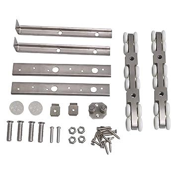 Mxfans 12 Hang Wheel Roller Pulley Hardware Set for Bearing