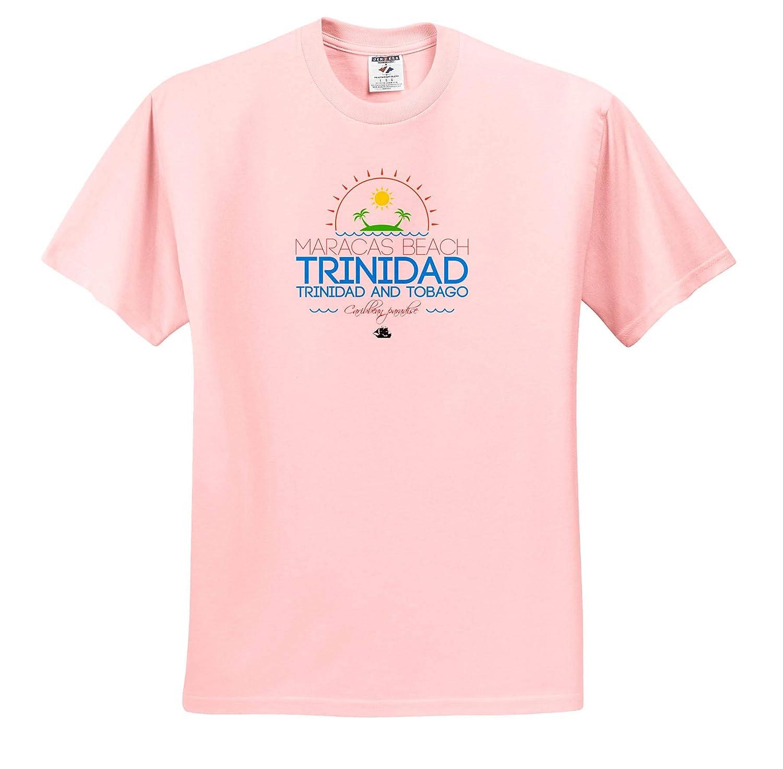 Trinidad Caribbean Paradise Trinidad and Tobago Caribbean Beaches T-Shirts Maracas Beach 3dRose Alexis Design