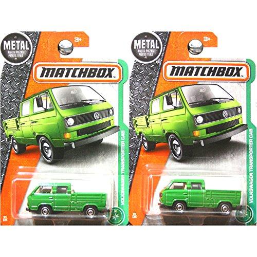 Matchbox Volkswagen Transporter Cab truck green RARE SET OF 2 BOTH BED (Transporter Matchbox)