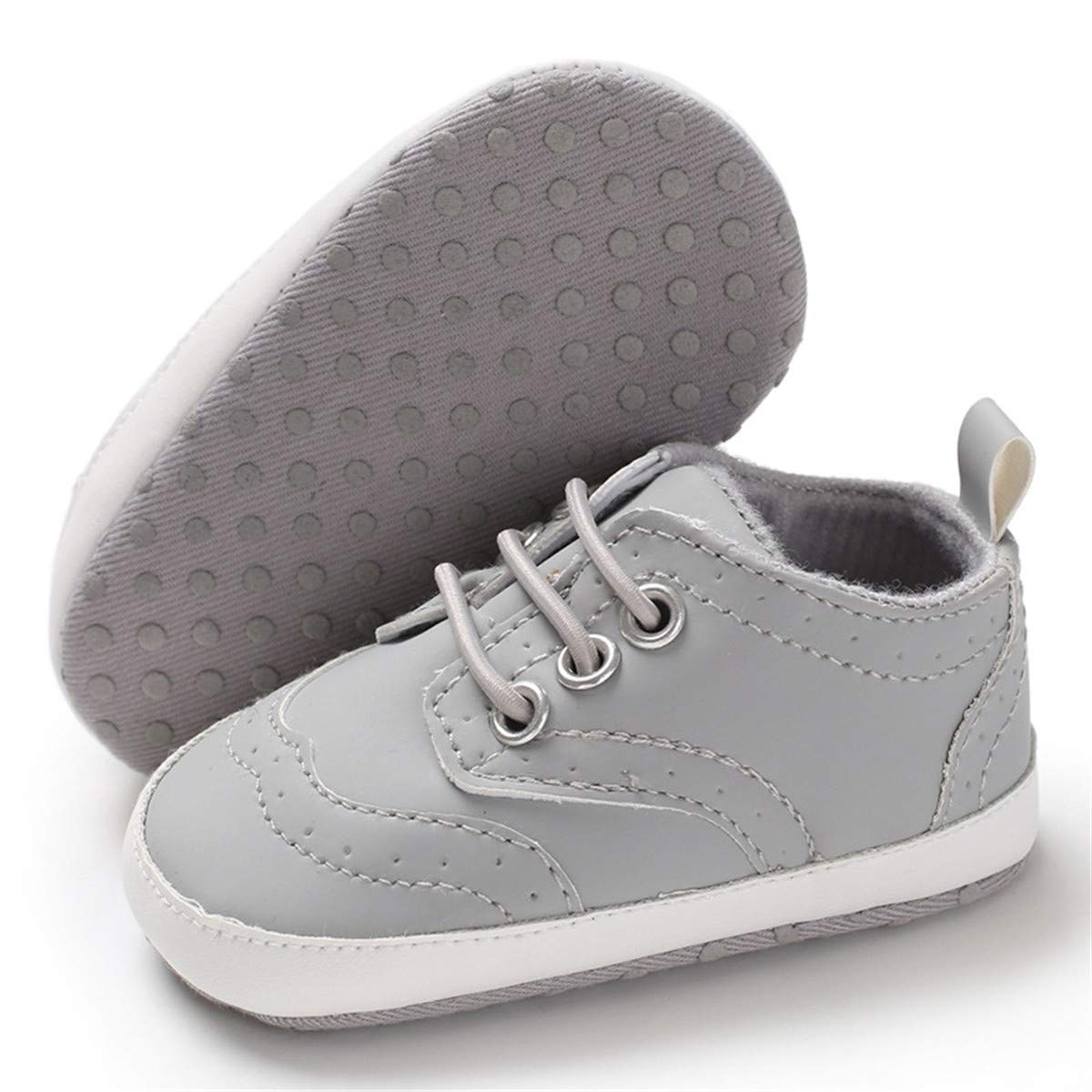 BENHERO Baby Boys Girls Oxford Shoes Soft Sole PU Leather Moccasins Infant Toddler First Walkers Crib Dress Shoes Sneaker