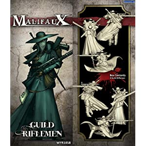 Wyrd Miniatures Malifaux Guild Riflemen Model Kit (3 Pack)