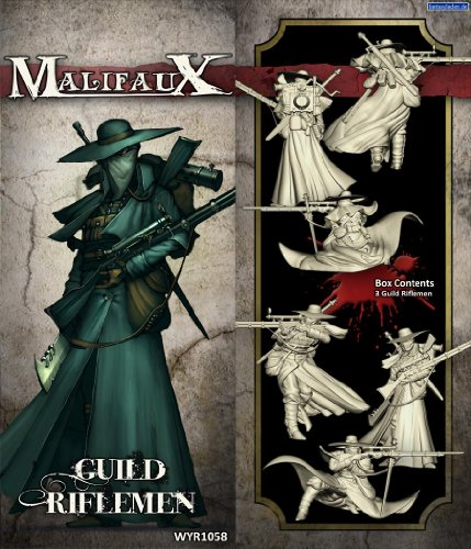 Wyrd Miniatures Malifaux Guild Riflemen Model Kit (3 Pack) 3