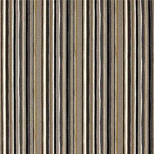 Set of 2 - Indoor / Outdoor Rectangle / Lumbar Decorative Throw / Toss Pillows ~ Cala Stripe Slate - Yellow, Ivory, Gray by Resort Spa Home Decor (Image #1)