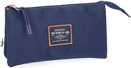 Pepe Jeans Cross Estuche tres compartimentos, color Azul: Amazon.es: Equipaje