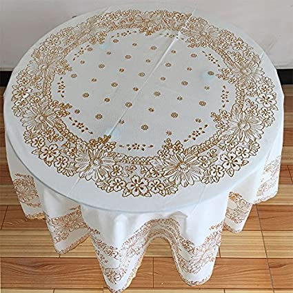 Large Round Table Cloth.Amazon Com Znzbztthick Waterproof Large Round Table Cloth Home