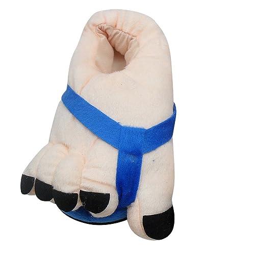 Quge Plüsch Pantoffeln für Herren Damen Erwachsene Neuheit Slippers Warm Comfortable Hausschuhe Rose 35-40 328L0